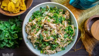 Instant Pot Chicken or Turkey Vaca Frita (Paleo, AIP, Whole30, Low-Carb)