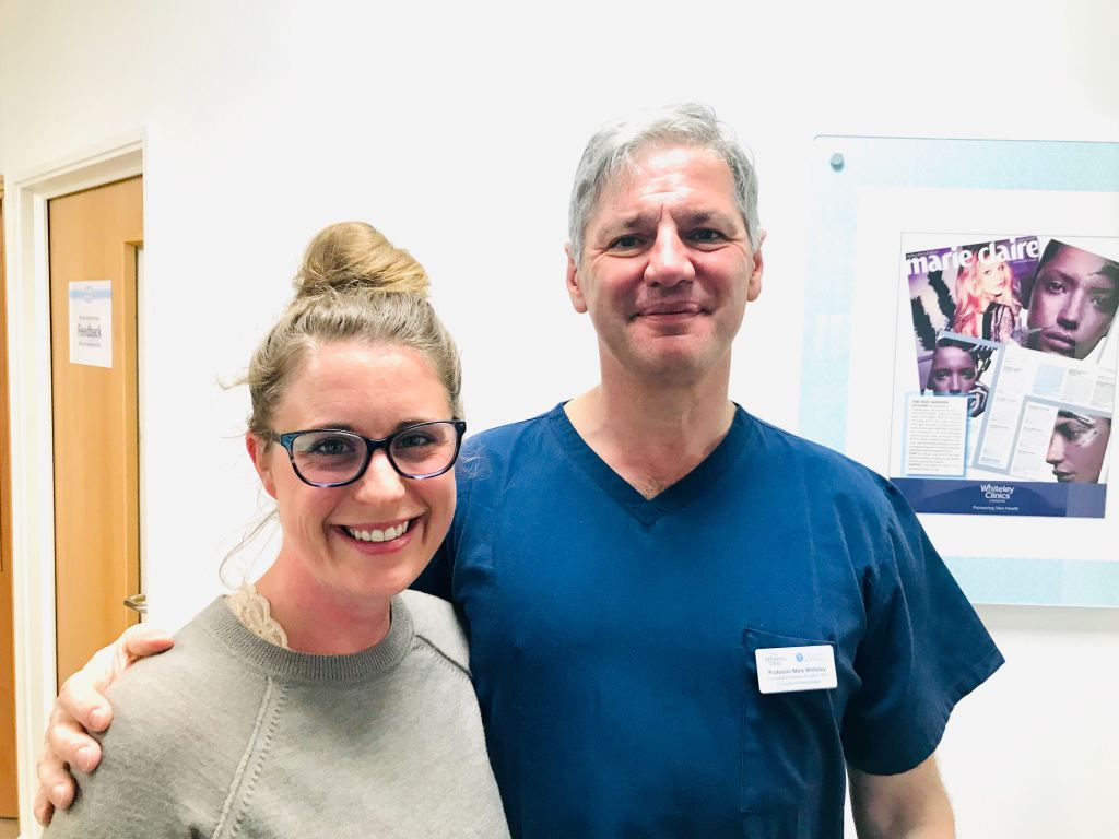 Lindsey Dietz and Dr. Mark Whiteley