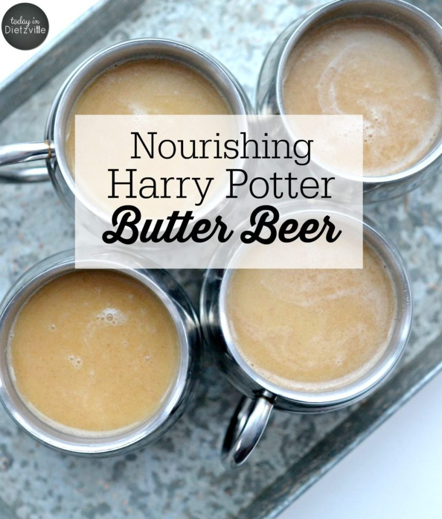 Nourishing Harry Potter Butter Beer {no alcohol}
