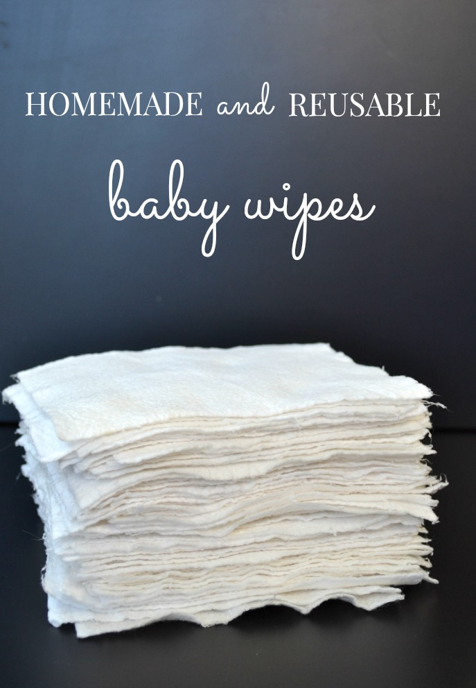 Homemade & Reusable Baby Wipes