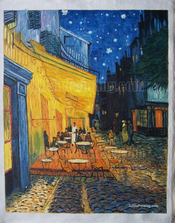 Van Gogh Paintings Cafe Terrace at Night