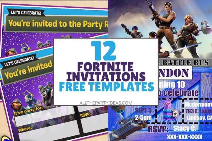 12 free fortnite party invitations