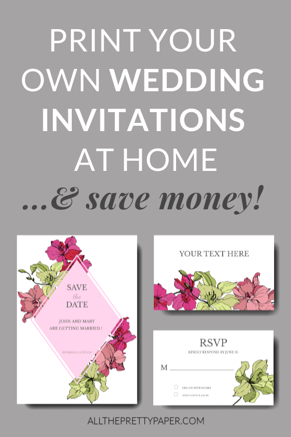 Print Home Wedding Invitations