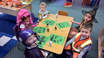 Matthew's class party with the craft I created. More importantly, that's his girlfriend next to him :)