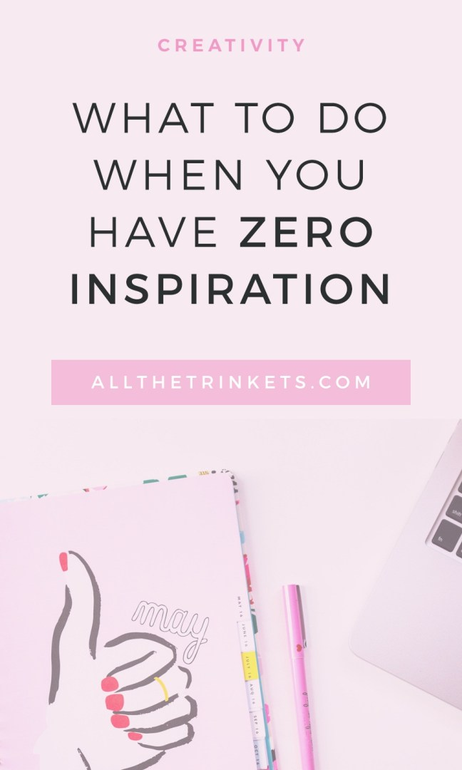 What can you do when you have zero inspiration to write? Read on for five things you can try.