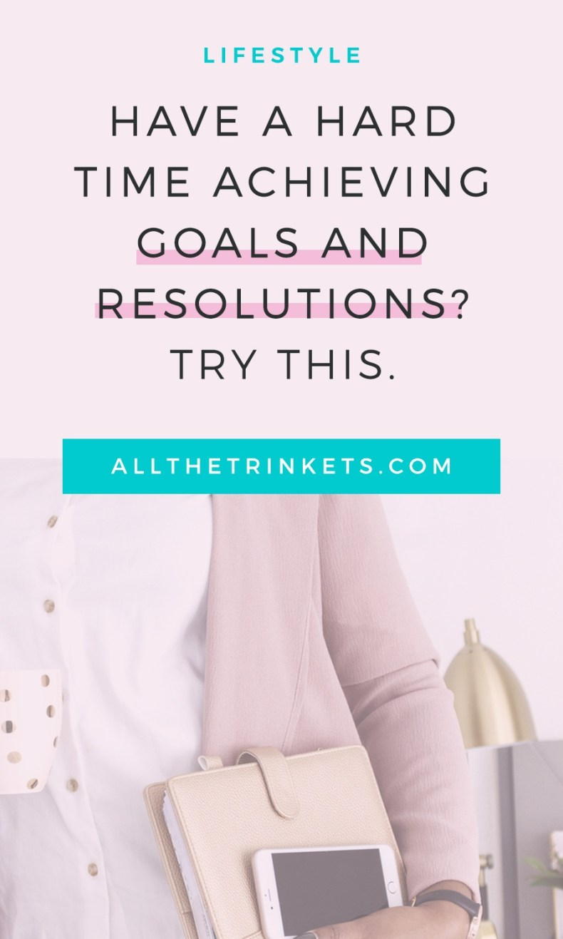 Do you have a hard time achieving your goals and resolutions this year? Click on to find out what's one thing you can do.