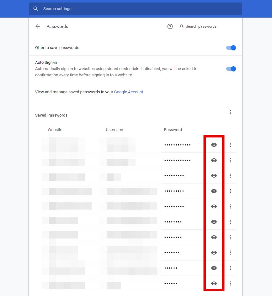 View Chrome Passwords