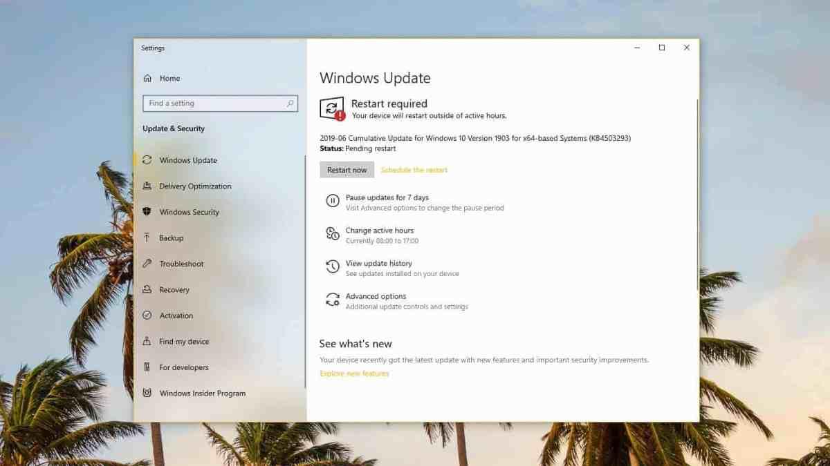 KB4503293 Update Windows 10 version 1903