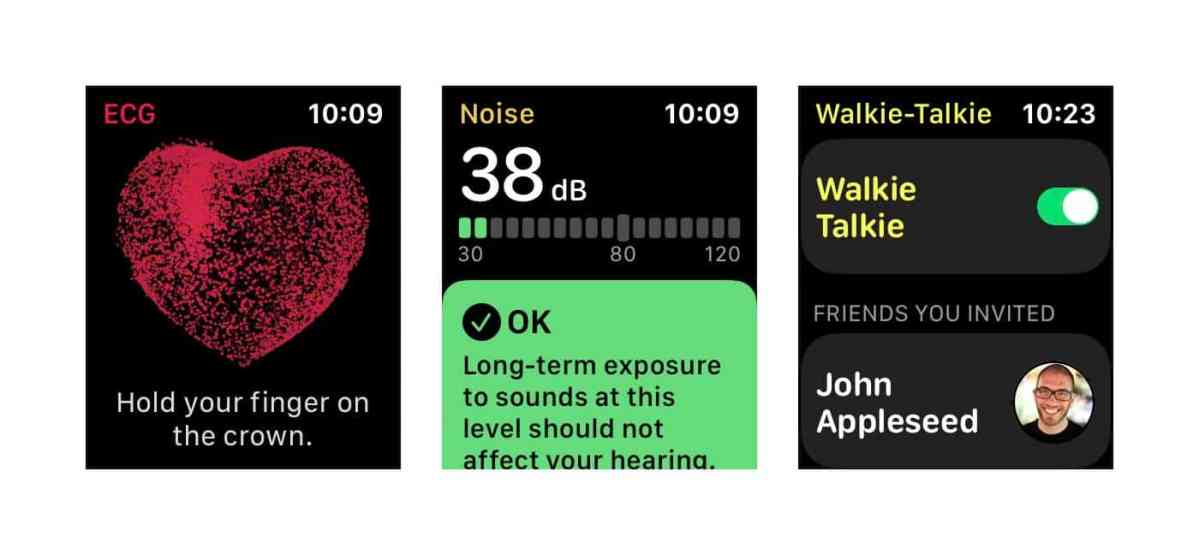 ECG Noise Walkie-Talkie Apple Watch watchOS App Store