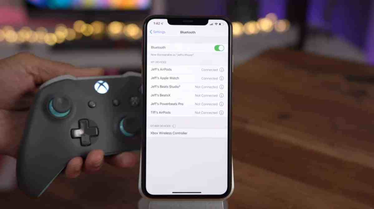 Xbox Wireless Controller iPhone Bluetooth Settings iOS 13
