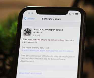 iOS 13.3 Beta 4 Update iPhone