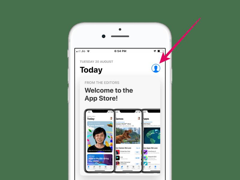 App Store Profile Icon iPhone