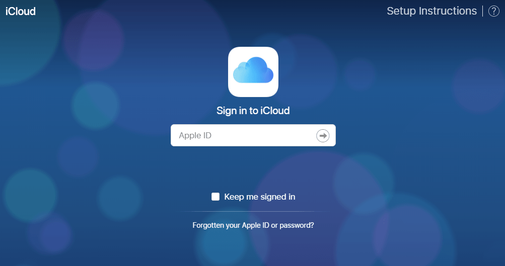 iCloud Sign in Apple ID