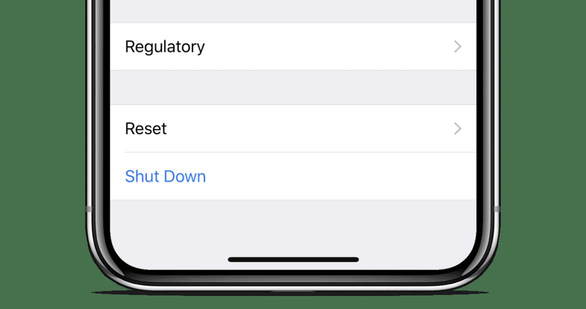 Shut Down iPhone