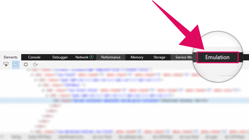 Microsoft Edge DevTools Emulation Tab
