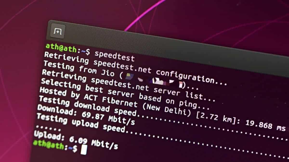 Speedtest Linux Terminal