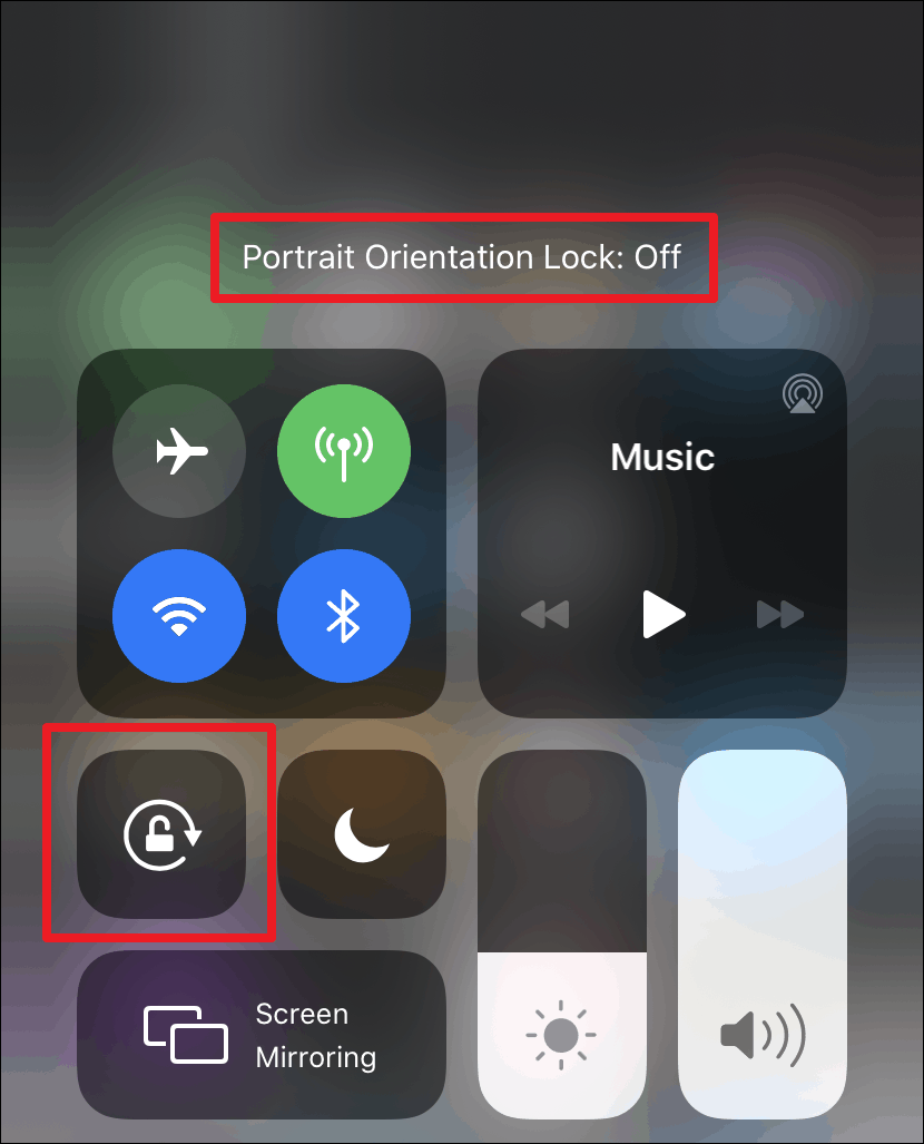 Enable Auto-rotate on iPhone