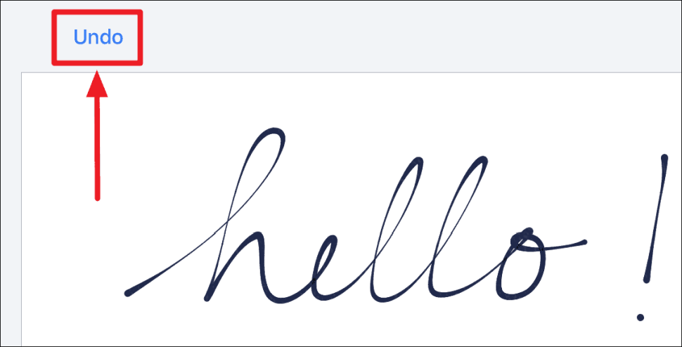 Undo Handwritten iMessage iPhone