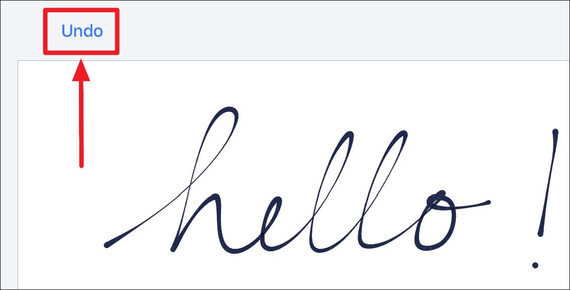 Undo Handwritten iMessage iPhone