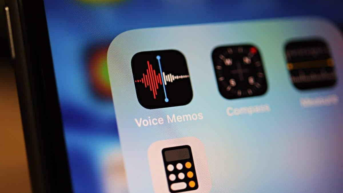 iPhone Voice Memo App Icon