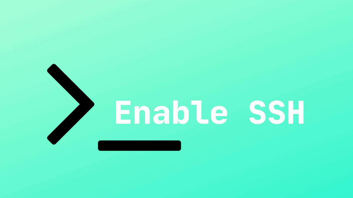 Enable SSH Ubuntu 18.04
