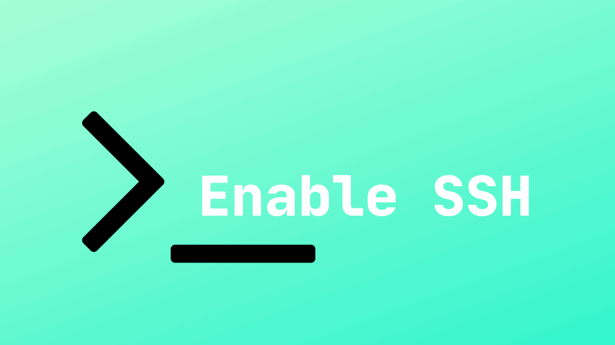Enable SSH Ubuntu 18.04