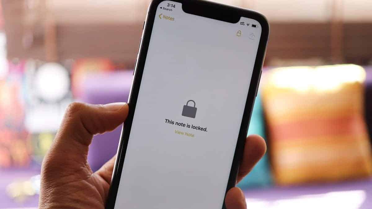 Lock Notes iPhone