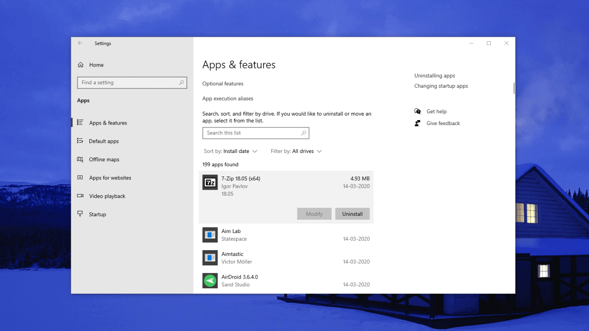 Windows 10 Apps Uninstaller
