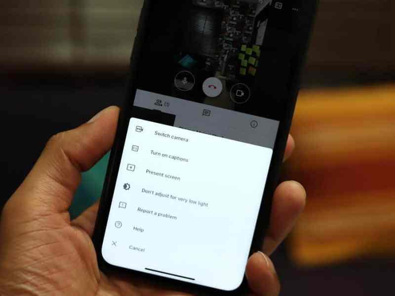 Google Meet Low Light Mode iPhone