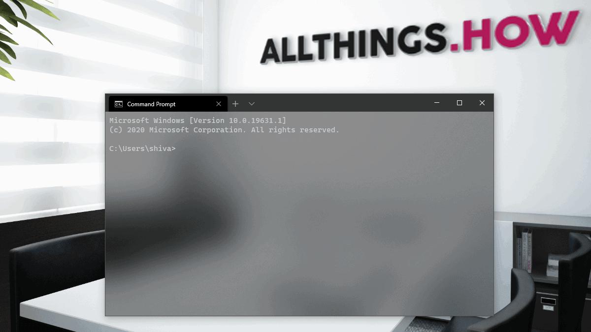 Windows Terminal Transparent