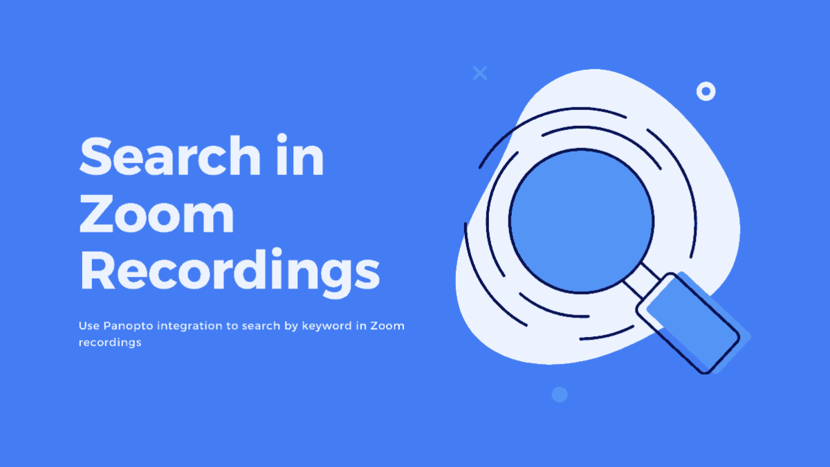 Search in Zoom Recordings