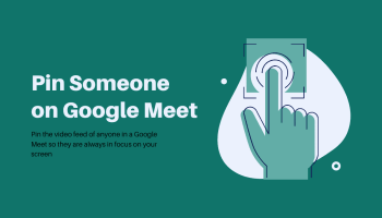 Pin a Video in Google Meet
