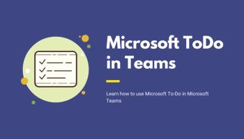 Microsoft To-Do in Microsoft Teams