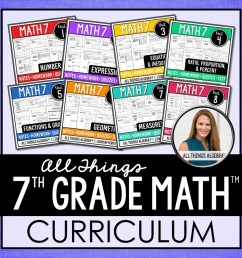 1. 7th Grade Math Curriculum – All Things Algebra® [ 960 x 960 Pixel ]