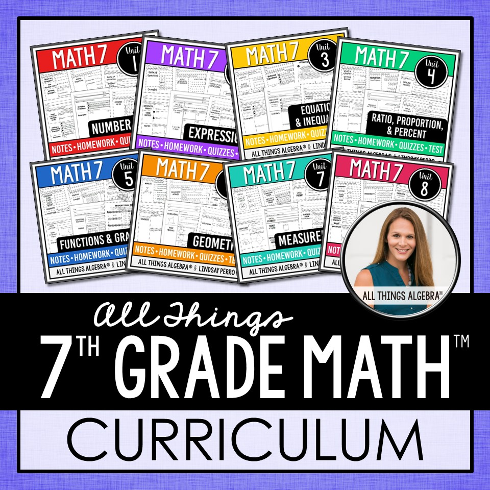 hight resolution of 1. 7th Grade Math Curriculum – All Things Algebra®