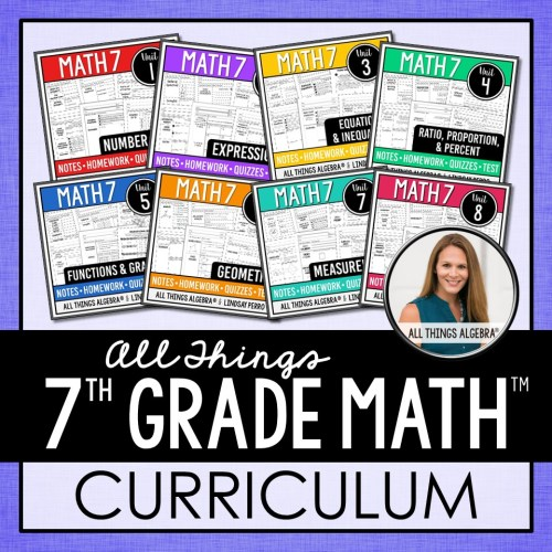 small resolution of 1. 7th Grade Math Curriculum – All Things Algebra®
