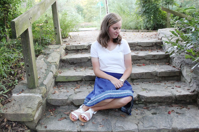 A super cute modest skirt outfit perfect for the park for the girl striving for modesty.