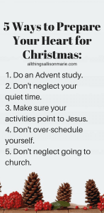 5 ways to prepare your heart for Christmas + a resource roundup.