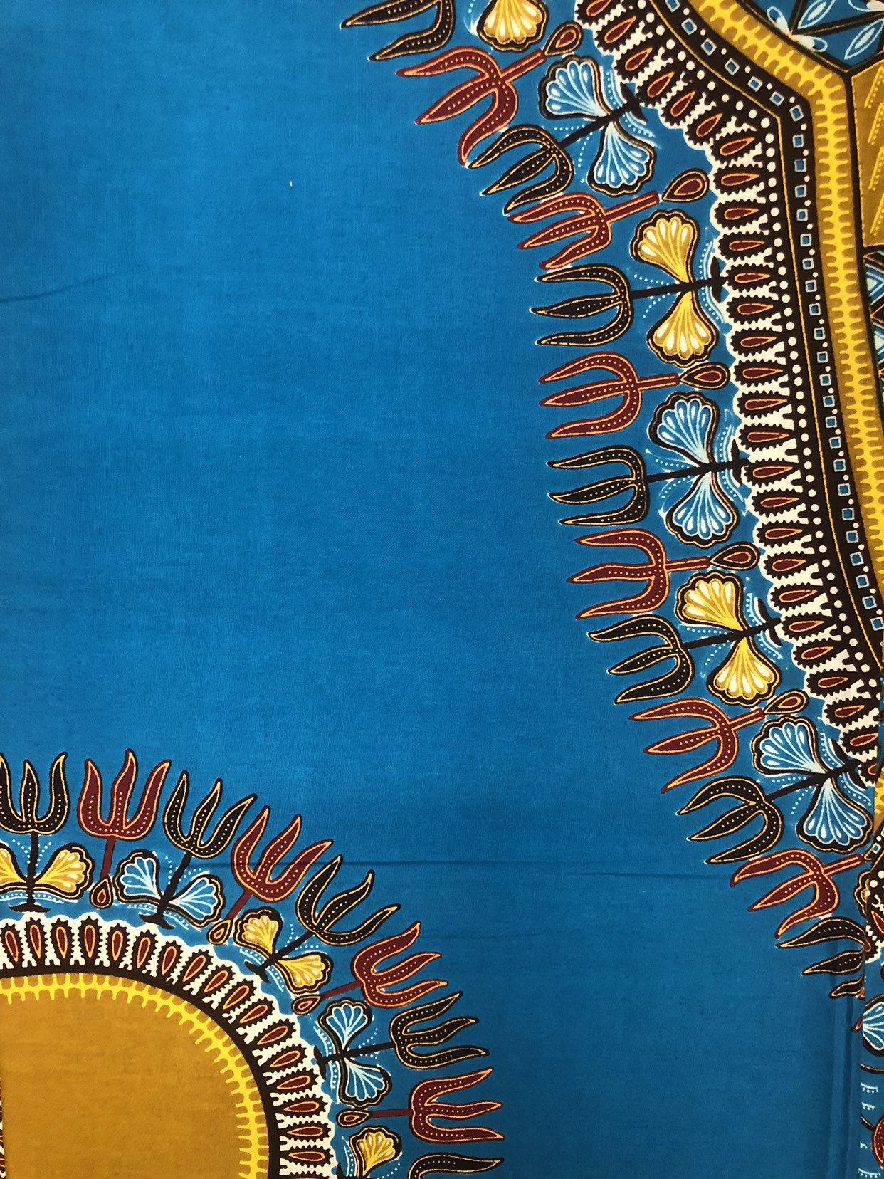 NICE African Print Fabric 6 Yards// Wax Prints Dark Blue Dark Red Brown