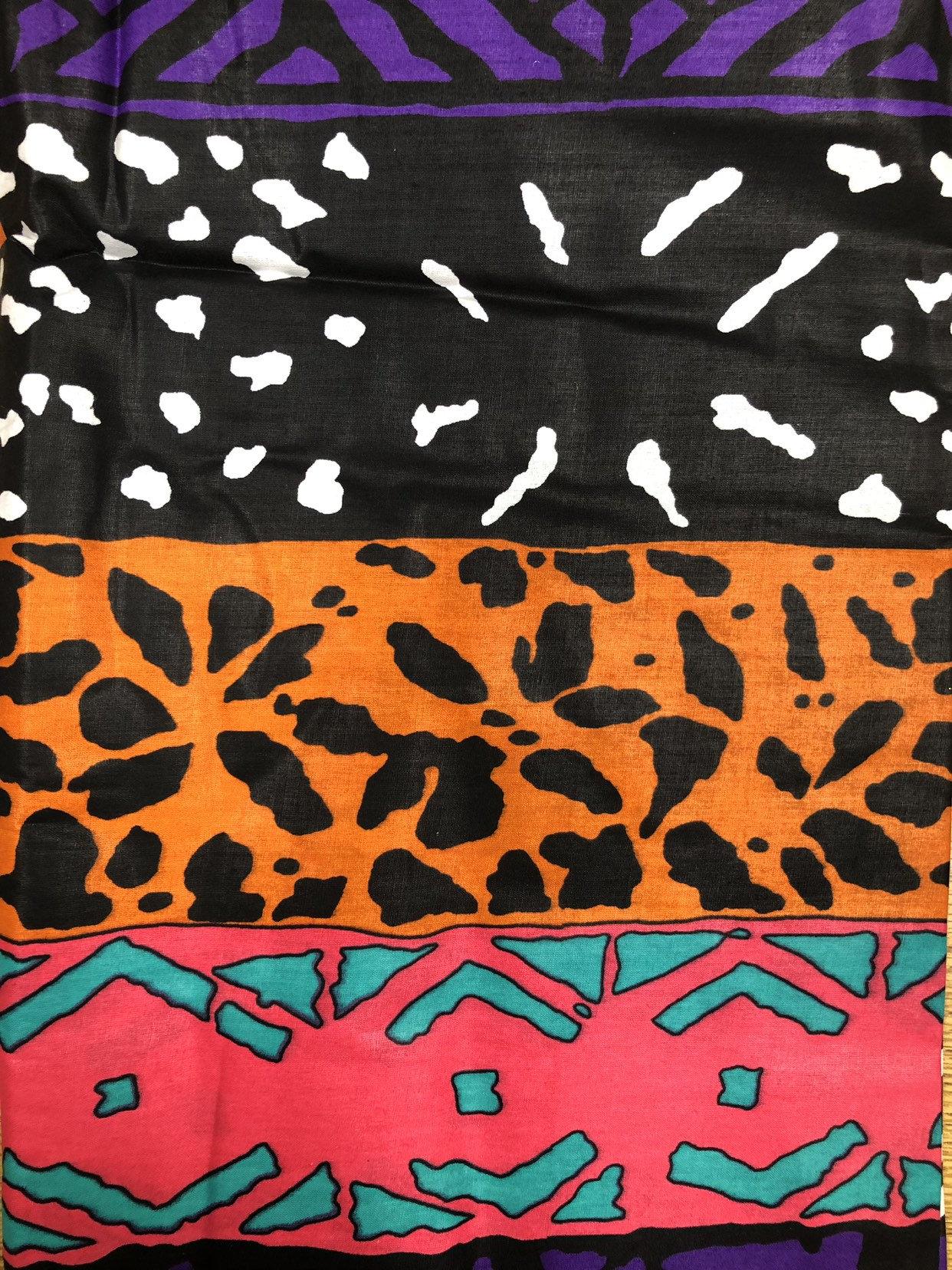 Wholesale Orange Yellow Green Blue Black White Mud Cloth Ankara African Print Fabric Fabric 6 Yards