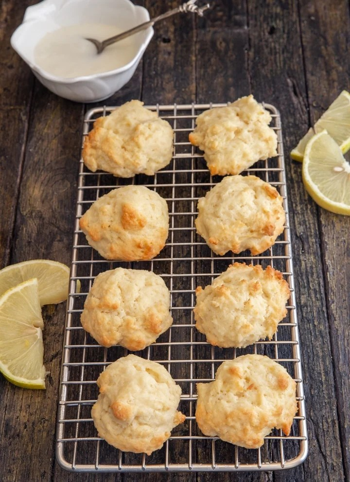 unglazed ricotta cookies on a wire rack