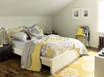 yellow and grey master bedroom Decorating with Gray and Yellow