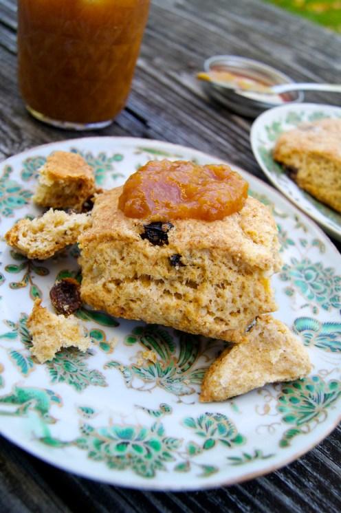 scones on an autumn morning