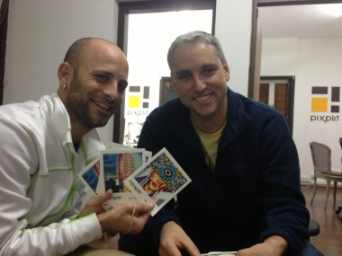 Pixplit co-founders Adi Binder and Jay Meydad