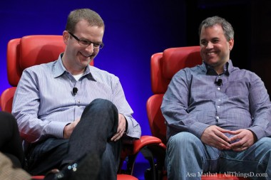 Ondrejka, right, with Facebook CTO Mike Schroepfer