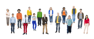 Group of Multiethnic Diverse And Colorful People