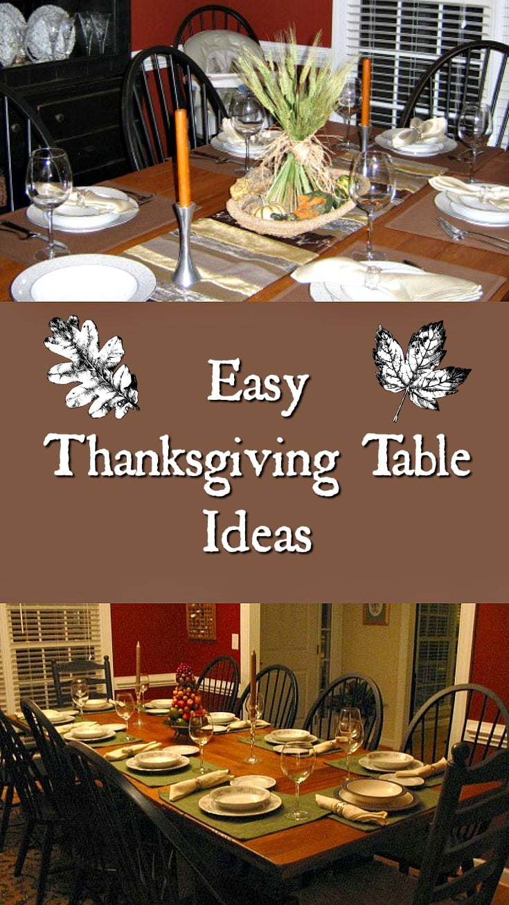 Guess who 39 s coming to thanksgiving all things fadra for Easy thanksgiving table decorations