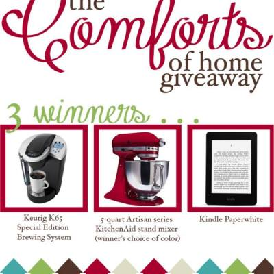 Comforts of Home Giveaway: Trade Up Your Nostalgia for Luxury