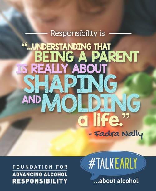 #TalkEarly quote - Fadra Nally