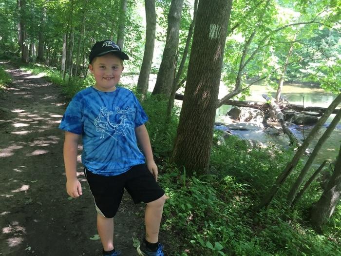 Evan in the woods